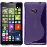 Silicone Case for Microsoft Lumia 535 S-Style purple