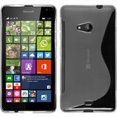 Silicone Case for Microsoft Lumia 535 S-Style transparent