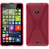 Silicone Case for Microsoft Lumia 535 X-Style hot pink