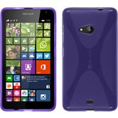 Silicone Case for Microsoft Lumia 535 X-Style purple