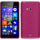 Silicone Case for Microsoft Lumia 540 Dual brushed hot pink