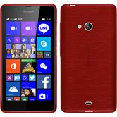 Silicone Case for Microsoft Lumia 540 Dual brushed red