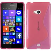 Silicone Case for Microsoft Lumia 540 Dual S-Style hot pink