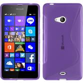 Silicone Case for Microsoft Lumia 540 Dual S-Style purple