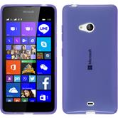 Silicone Case for Microsoft Lumia 540 Dual transparent purple