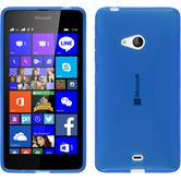 Silicone Case for Microsoft Lumia 540 Dual X-Style blue