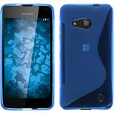 Silicone Case for Microsoft Lumia 550 S-Style blue