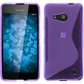 Silicone Case for Microsoft Lumia 550 S-Style purple