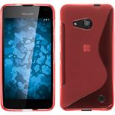 Silicone Case for Microsoft Lumia 550 S-Style red
