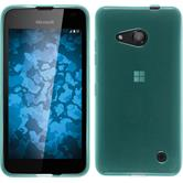 Silicone Case for Microsoft Lumia 550 transparent turquoise