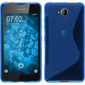 Silicone Case for Microsoft Lumia 650 S-Style blue