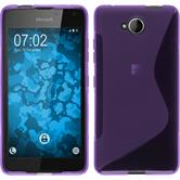 Silicone Case for Microsoft Lumia 650 S-Style purple