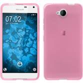 Silicone Case for Microsoft Lumia 650 transparent pink