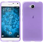 Silicone Case for Microsoft Lumia 650 transparent purple