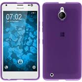 Silicone Case for Microsoft Lumia 850 transparent purple