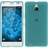 Silicone Case for Microsoft Lumia 850 transparent turquoise