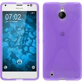 Silicone Case for Microsoft Lumia 850 X-Style purple