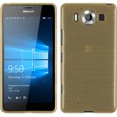 Silicone Case for Microsoft Lumia 950 brushed gold