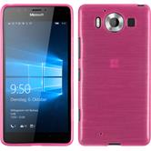 Silicone Case for Microsoft Lumia 950 brushed hot pink