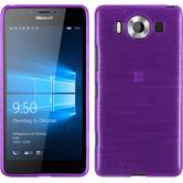 Silicone Case for Microsoft Lumia 950 brushed purple