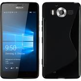 Silicone Case for Microsoft Lumia 950 S-Style black
