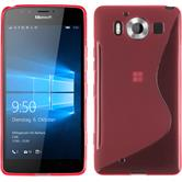 Silicone Case for Microsoft Lumia 950 S-Style hot pink