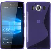 Silicone Case for Microsoft Lumia 950 S-Style purple