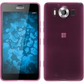Silicone Case for Microsoft Lumia 950 transparent pink