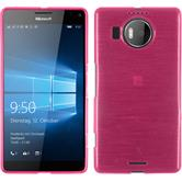 Silicone Case for Microsoft Lumia 950 XL brushed hot pink