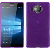 Silicone Case for Microsoft Lumia 950 XL brushed purple