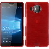 Silicone Case for Microsoft Lumia 950 XL brushed red