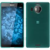 Silicone Case for Microsoft Lumia 950 XL transparent turquoise