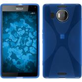 Silicone Case for Microsoft Lumia 950 XL X-Style blue