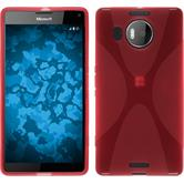 Silicone Case for Microsoft Lumia 950 XL X-Style red