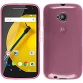 Silicone Case for Motorola Moto E 2015 2. Generation transparent pink