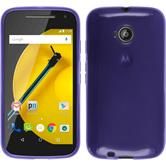 Silicone Case for Motorola Moto E 2015 2. Generation transparent purple