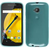 Silicone Case for Motorola Moto E 2015 2. Generation transparent turquoise