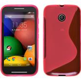 Silicone Case for Motorola Moto E S-Style hot pink