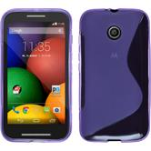 Silicone Case for Motorola Moto E S-Style purple