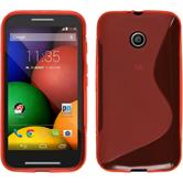 Silicone Case for Motorola Moto E S-Style red