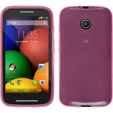 Silicone Case for Motorola Moto E transparent pink