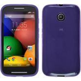 Silicone Case for Motorola Moto E transparent purple