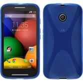 Silicone Case for Motorola Moto E X-Style blue
