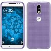 Silicone Case for Motorola Moto G4 Iced purple