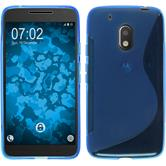 Silicone Case for Motorola Moto G4 Play S-Style blue