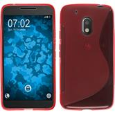 Silicone Case for Motorola Moto G4 Play S-Style red