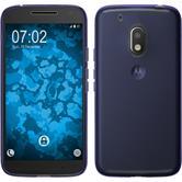 Silicone Case Moto G4 Play transparent purple + protective foils