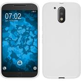 Silicone Case for Motorola Moto G4 Plus S-Style white