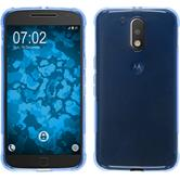 Silicone Case Moto G4 Plus ShockProof blue