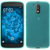 Silicone Case for Motorola Moto G4 Plus transparent turquoise